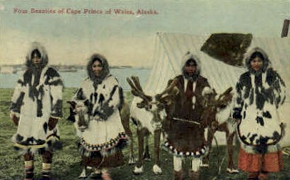 Four Beauties of Cape Prince - Wales, Alaska AK Postcard
