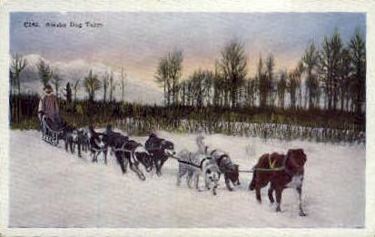 Alaska Dog Team - Misc Postcard