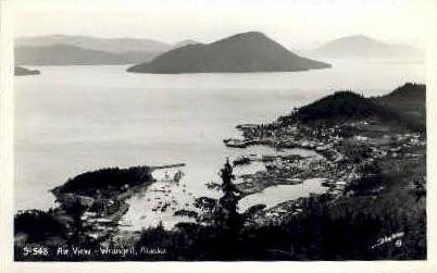 Real Photo - Air View - Wrangell, Alaska AK Postcard