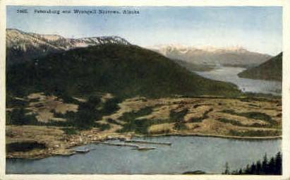 Petersburg and Wrangell Narrows - Alaska AK Postcard