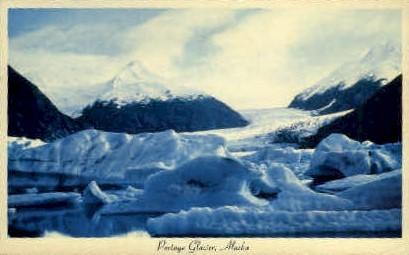 Portage Glacier - Alaska AK Postcard