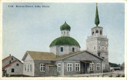 Russian Chruch - Sitka, Alaska AK Postcard
