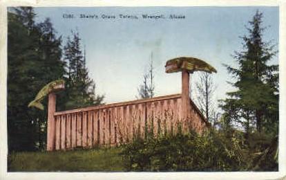 Shake's Grave Totems - Wrangell, Alaska AK Postcard