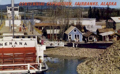 Centennial Exposition - Fairbanks, Alaska AK Postcard