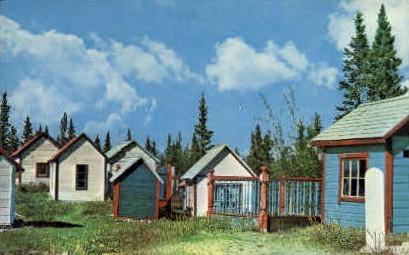 Indian Graveyard - Misc, Alaska AK Postcard