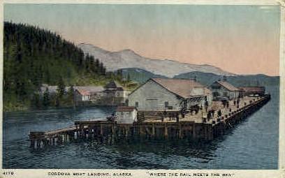 Cordova Boat Landing - Misc, Alaska AK Postcard