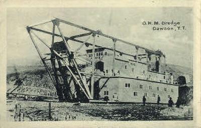 O. K. M. Dredge  - Dawson, Alaska AK Postcard