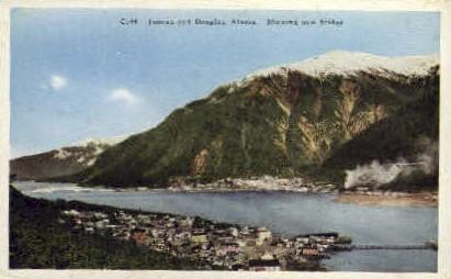 Juneau and Douglas showing Bridge - Misc, Alaska AK Postcard