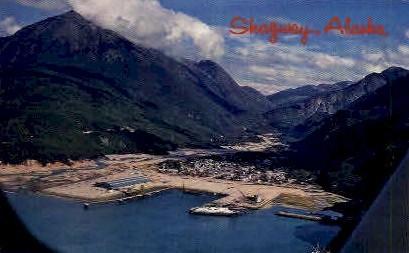 Sky view - Skagaway, Alaska AK Postcard