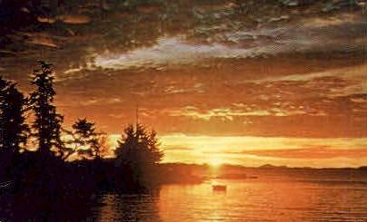 Mount Point Sunrise - Misc, Alaska AK Postcard