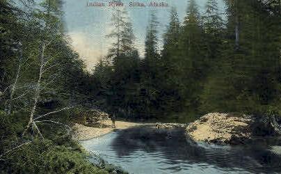 Indian River - Sitka, Alaska AK Postcard