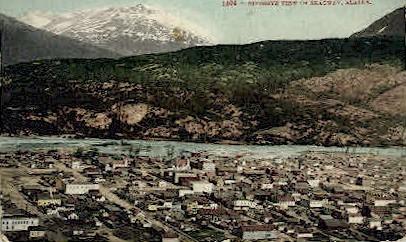 Birdseye View of Skagaway - Alaska AK Postcard