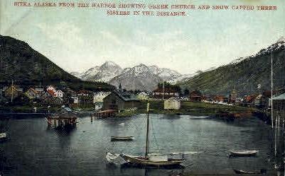 Horber showing Greek Church - Sitka, Alaska AK Postcard