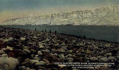 Childs Glacier - Misc, Alaska AK Postcard