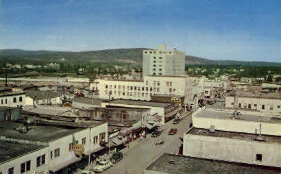 Second Avenue - Fairbanks, Alaska AK Postcard