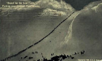 Bound for the Gold Fields - Misc, Alaska AK Postcard