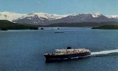 Alaska by Ferry - Skagaway Postcard