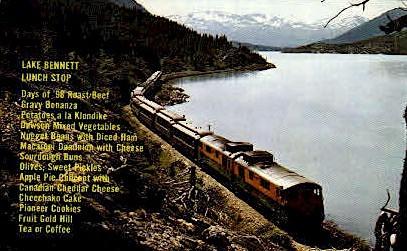 Lake Bennett Lunch Stop - Alaska AK Postcard