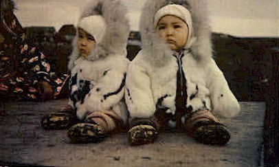 Eskimo Twins - Misc, Alaska AK Postcard