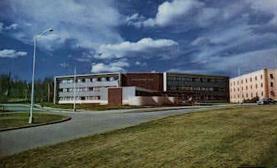 Wickersham Hall, Univ. of Alaska - College Postcard