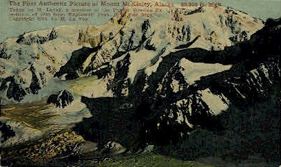 First Picture of Mount McKinley - Mt. McKinley, Alaska AK Postcard
