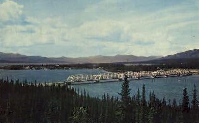 Nisutlin Bay Bridge - Alaska AK Postcard