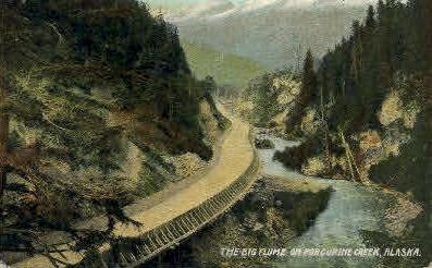 The Big Flume - Porcupine Creek, Alaska AK Postcard