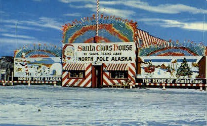 The Home of Santa Claus - North Pole, Alaska AK Postcard