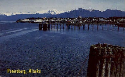 Inside Passage - Petersburg, Alaska AK Postcard