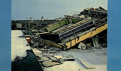 The Great Alaskan Earthquake - Anchorage Postcard