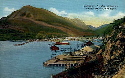 Scene on White Pass - Skagaway, Alaska AK Postcard