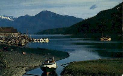 Cannery and Fish Boats - Misc, Alaska AK Postcard