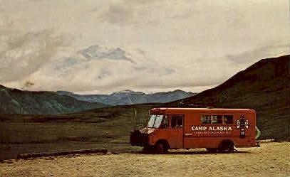 Camp Alaska - McKinley Park Postcard