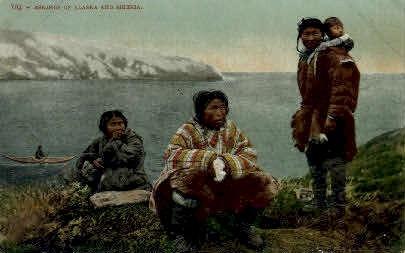 Eskimos of Alaska and Siberia - Misc Postcard