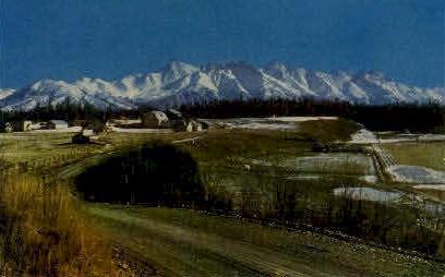 Matanuska Valley - Alaska AK Postcard