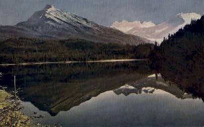 Reflections in Auk Lake - Auke Lake, Alaska AK Postcard