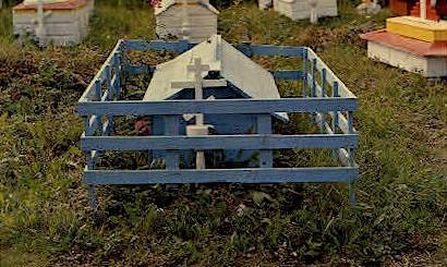 Indian Burial Grounds - Eklutna, Alaska AK Postcard