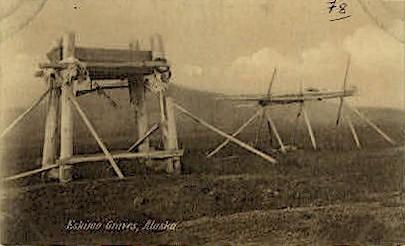 Eskimo Graves - Misc, Alaska AK Postcard