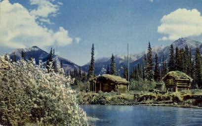 Trapper's Cabin - Misc, Alaska AK Postcard