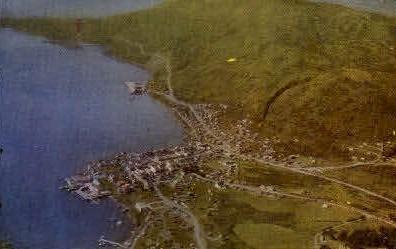 Aerial view of Kodiak - Alaska AK Postcard