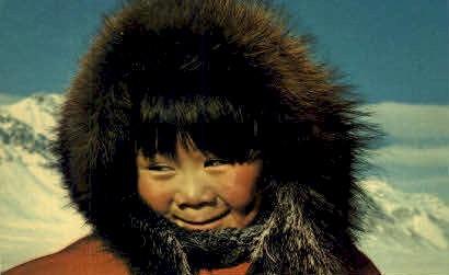 Alaskan Eskimo Child - Misc Postcard