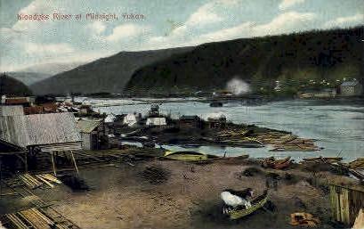 Klondyke River at Midnight - Alaska AK Postcard