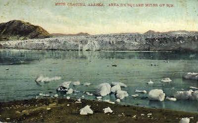 Muir Glacier  - Alaska AK Postcard
