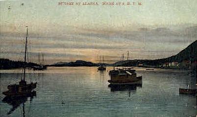Sunset at Alaska - Misc Postcard