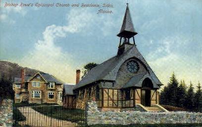 Bishop Rowe's Episcopal Church - Sitka, Alaska AK Postcard