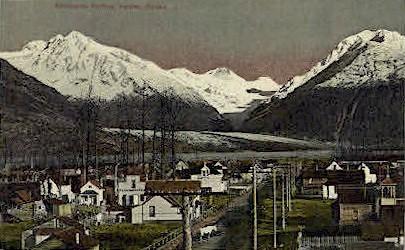 Town Scene - Valdez, Alaska AK Postcard