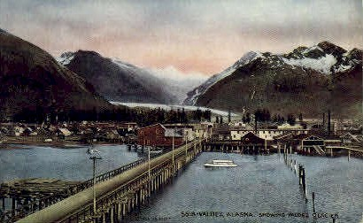 Bridge Entrance - Valdez, Alaska AK Postcard