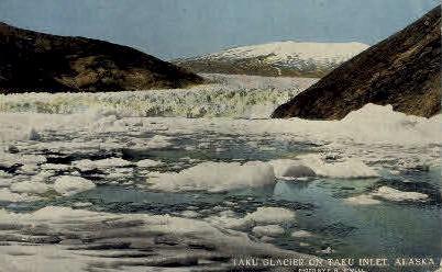 Taku Inlet - Alaska AK Postcard