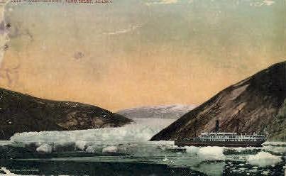 Taku Glacier and Inlet - Alaska AK Postcard