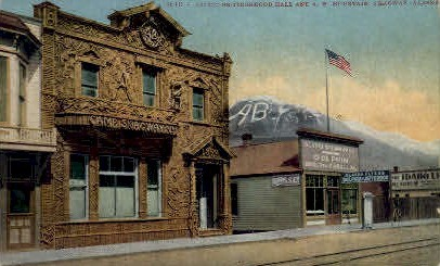 Arctic Brotherhood Hall - Skagaway, Alaska AK Postcard